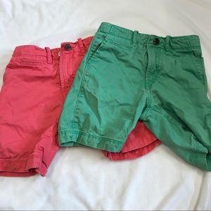 set of GAP colored shorts